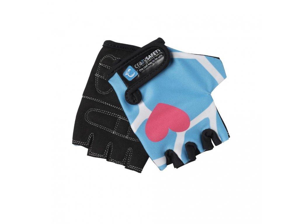 rukavice crazy safety modra zirafa s 4848