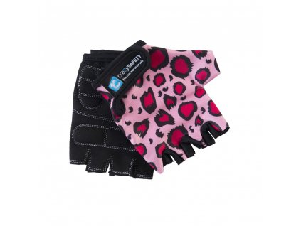 rukavice crazy safety ruzovy leopard s 4850